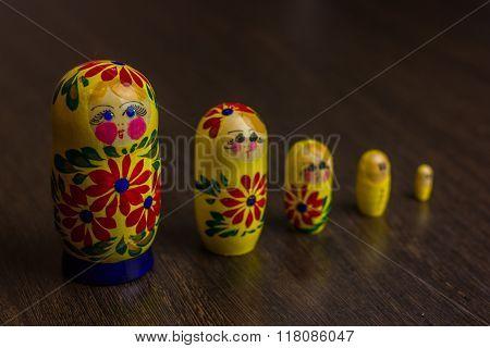 Russian nesting dolls,  babushkas or matryoshkas