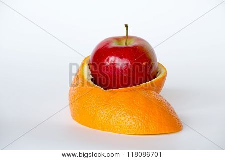 Hiding Inside An Orange Skin