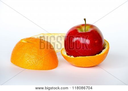 Apple Inside An Orange