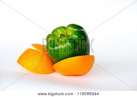Pepper Inside An Orange