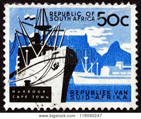 Postage Stamp South Africa 1961 Cape Town, Harbor