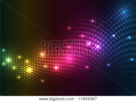 Abstract halftone lights. vector background