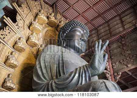 The Great Buddha in Todai-Ji Temple