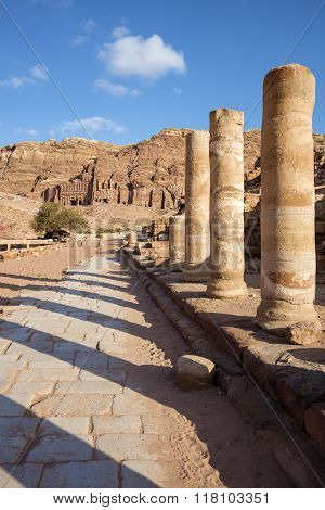 Colonnaded Street of Petra
