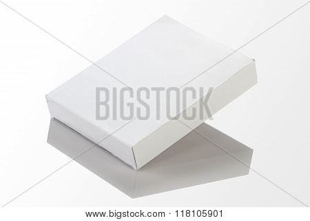 Blank White Paper / Card Box For Mockup