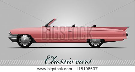 NOVI SAD, SERBIA - JANUARY 11, 2016: Vector illustration of Cadillac DeVille 1960