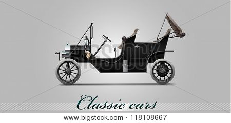 NOVI SAD, SERBIA - JANUARY 11, 2016: Vector illustration of Ford Model T 1910