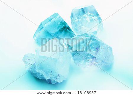 Beautiful  Aquamarine colored crystals