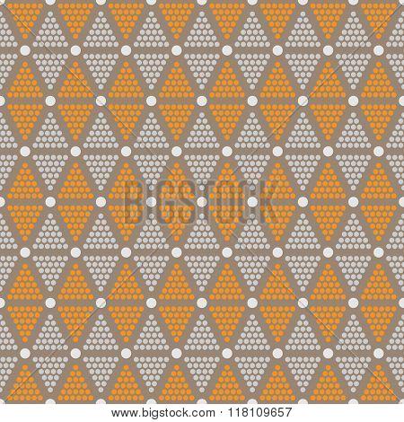 Abstract Seamless Pattern Of Dots And Circles