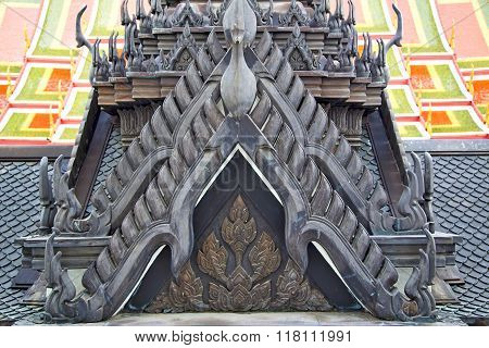 Roof     Temple   In   Bangkok  Thailand  The Temple