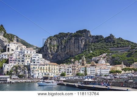 Amalfi Village In The Province Of Salerno In Italy