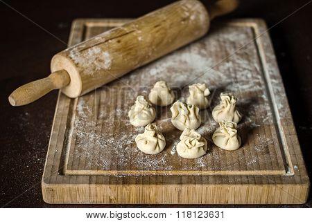 Wonton Or Chinese Dumpling Preparation