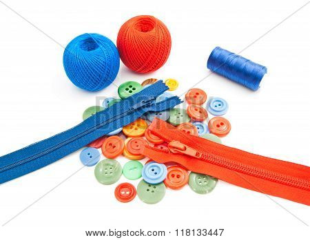 Tangles Of Thread, Buttons And Zippers