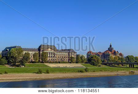 Treasury Building And Sachsische Staatskanzlei, Dresden, Germany