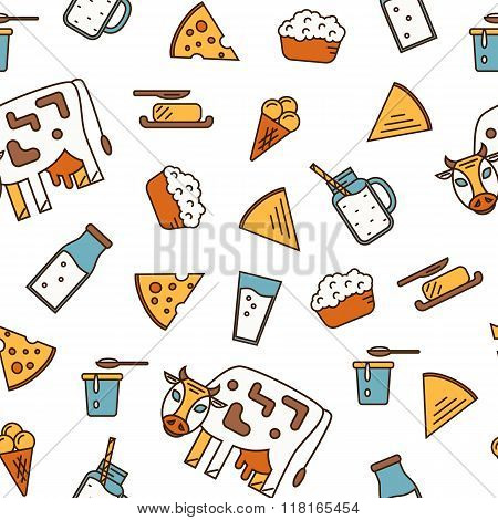 Dairy Product Icon Set. Milk, Cheese, Ice Cream, Butter and other Dairy Product. Different Milk Product in line style design. Organic farmers food. Organic food and dairy product concept. Milk product icon. Cartoon dairy product. Dairy icon.