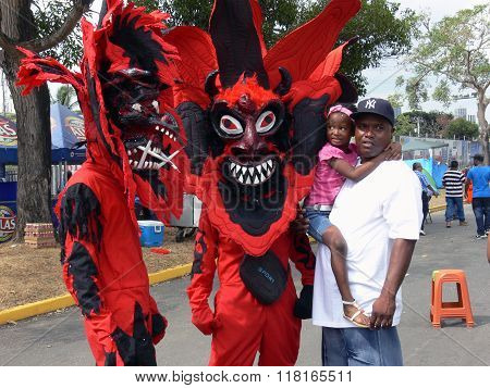 Red Devils At Panama Carnival