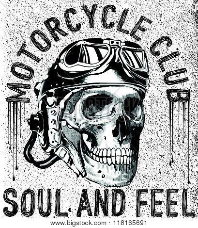 T Shirt Skull Motorcycle Graphic Design