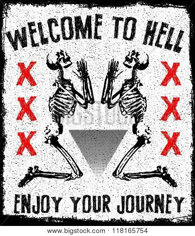 Skull Tee Graphic Design