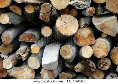Heap Of Firewoods