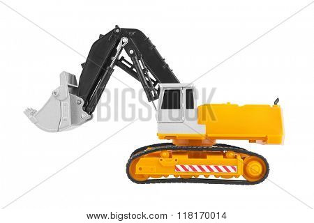 Bulldozer isolated on white background. Model.