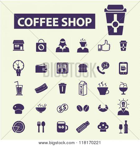 coffee shop, cafe icons, coffee icons, café logo