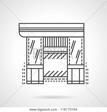 Hardware store flat line vector icon