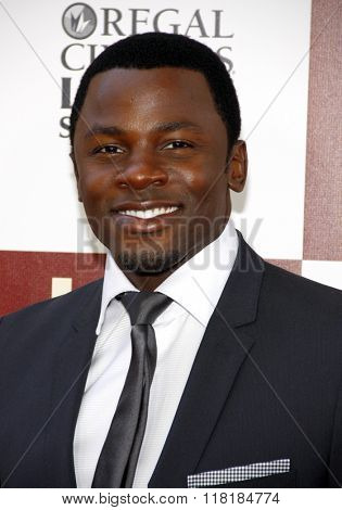 Derek Luke at the 2012 Los Angeles Film Festival premiere of