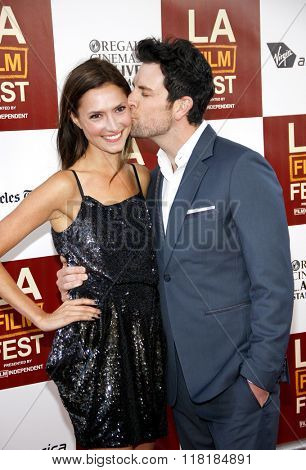 Laura Perloe and Chris Mann at the 2012 LA Film Festival premiere of