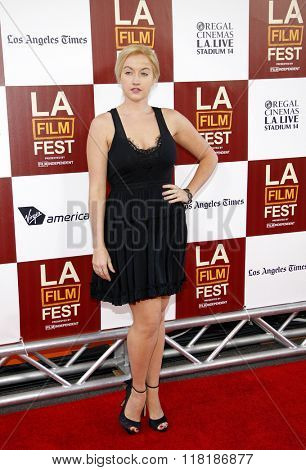 Laura Linda Bradley at the 2012 Los Angeles Film Festival premiere of