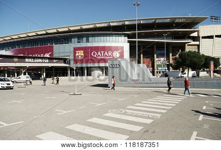 Nou Camp Stadium In Barcelona