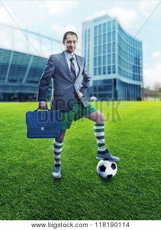 Businessman in sportwear