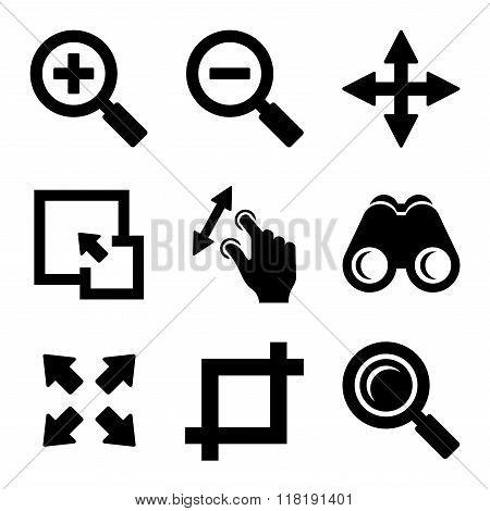 Zoom Icons Set