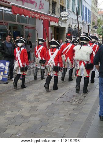 Royal Soldiers In Gibraltar