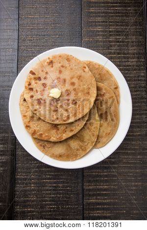 Puran poli is important sweet menu in holi festival in india, indian dessert, puran roti, indian swe