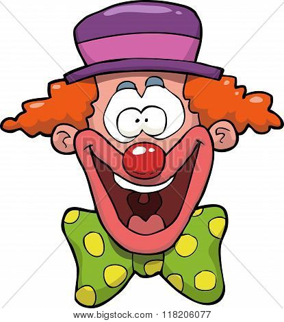 Cartoon Clown Head