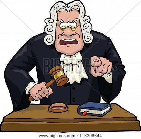 Cartoon Judge Accuses