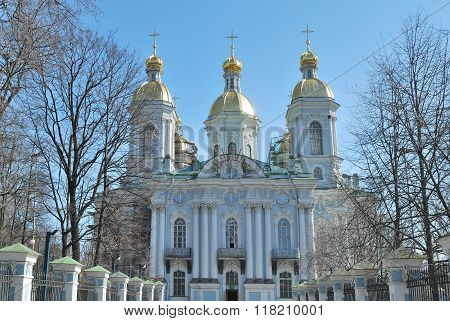Russia. St. Nicholas Cathedral In Saint-petersburg