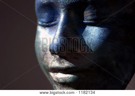 Blue Clay Face