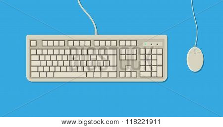retro Keyboard and Mouse