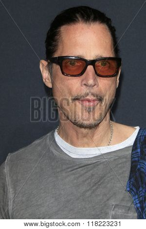 LOS ANGELES - FEB 10:  Chris Cornell at the SAINT LAURENT At The Palladium at the Hollywood Palladium on February 10, 2016 in Los Angeles, CA
