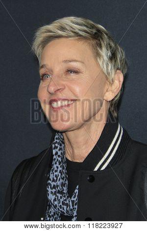LOS ANGELES - FEB 10:  Ellen DeGeneres at the SAINT LAURENT At The Palladium at the Hollywood Palladium on February 10, 2016 in Los Angeles, CA