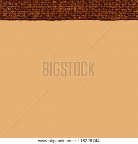 Textile weft, fabric interior, buckwheat canvas, styled material, swatch background