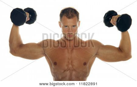 Strong body builder