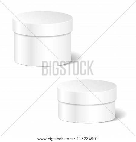 Realistic Blank White Product Package Box Mock Up Set To Adverti