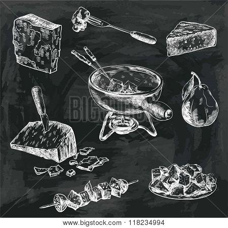 cheese fondue sketches