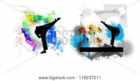 Martial arts, vector