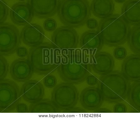 Green Seamless Pattern With Round Shapes.