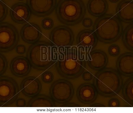 Brown Seamless Pattern With Round Shapes.