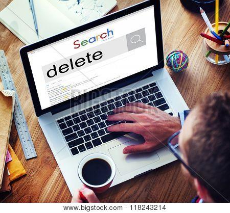 Delete Cancel Cut Out Edit Remove Digital Concept