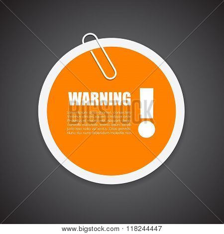 Warning security notice sticker